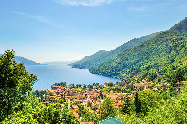View of Lake Maggiore, Italy