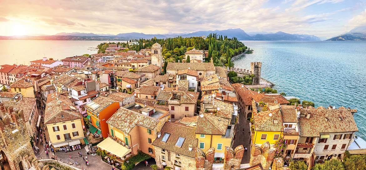 The different shores of Lake Garda