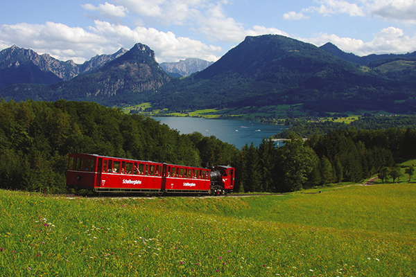 Mountain railway in St Wolfgang in Austria