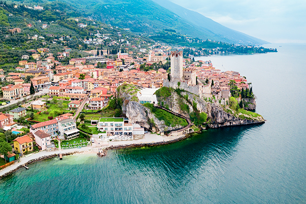 Aerial view of Malcesine