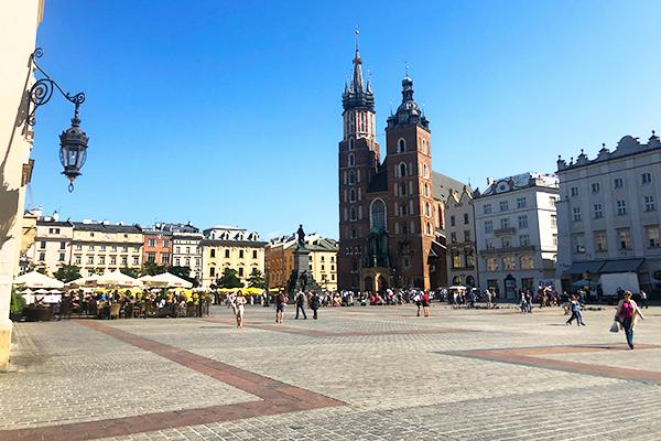 Rynek Glowny square in Krakow
