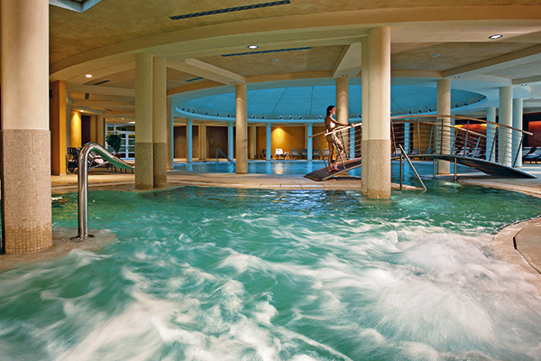 Indoor pool at the Caesius hotel in Bardolino, Lake Garda, Italy