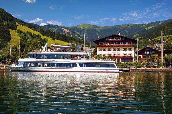 Ferry on Lake Zell in Austria