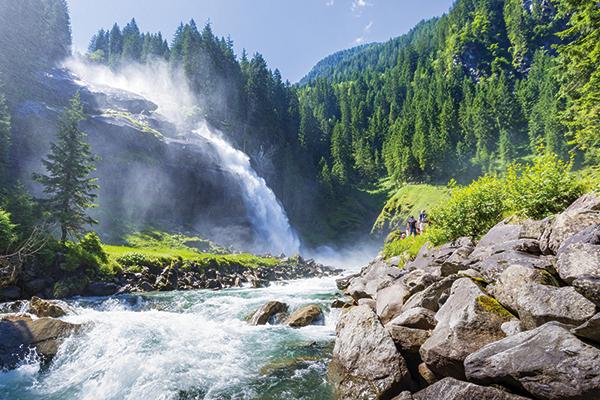 Krimml Waterfalls in Austria