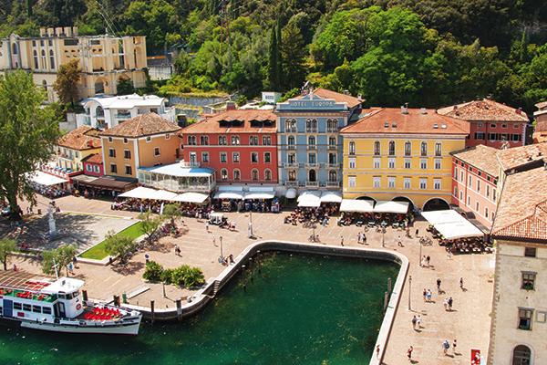 Riva town on Lake Garda