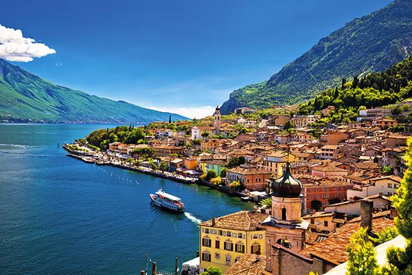 Limone town on Lake Garda
