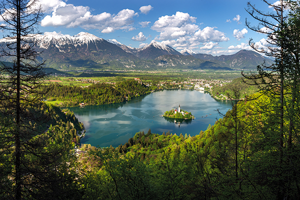 View from Mala Osojnic, Bled