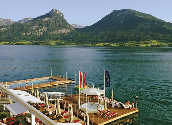 Hotel Im Weissen Rossl on Lake Wolfgang