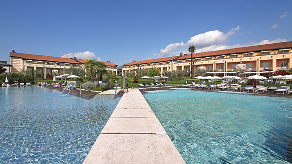 Outdoor pools at the Hotel Caesius Thermae & spa