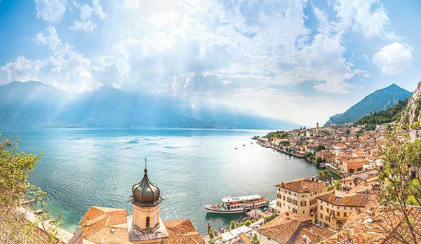 Limone, Lake Garda and the Monte Baldo mountains