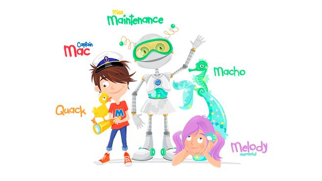 MCrew characters coloured in