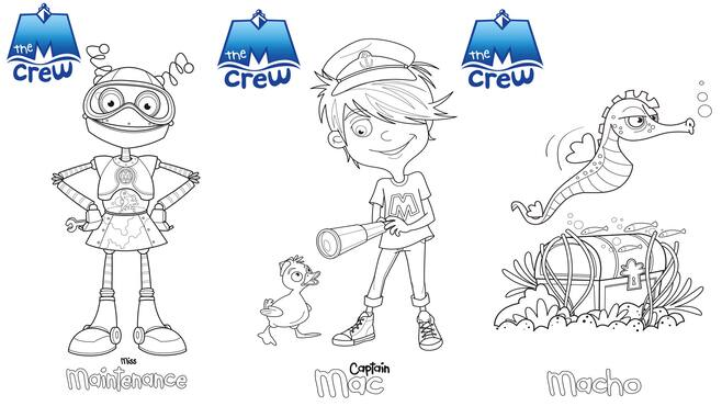 MCrew characters for colouring