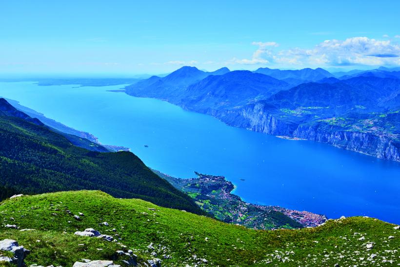 Aerial view of Garda and Lake Garda