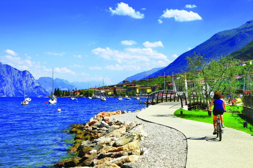 Cycling on Lake Garda