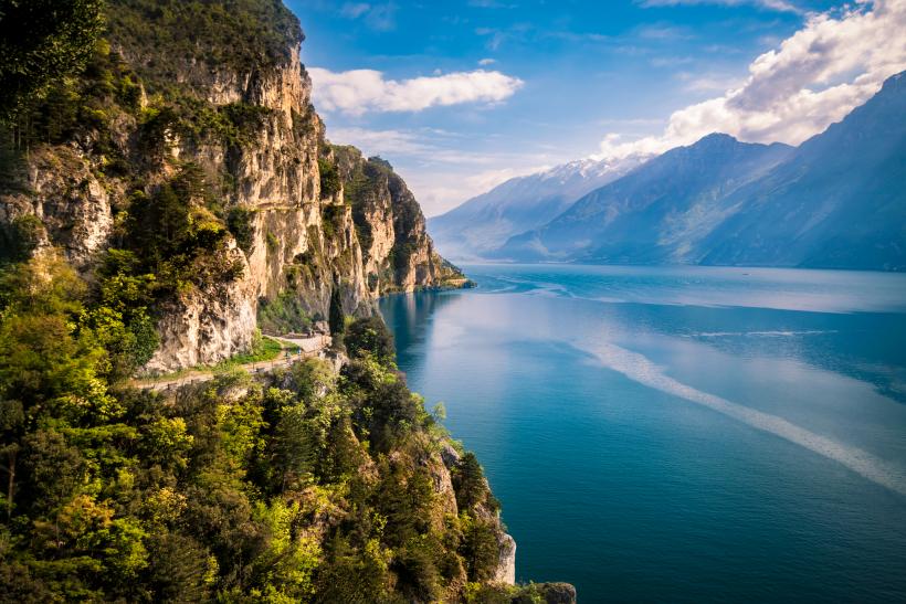 Road near Riva on Lake Garda